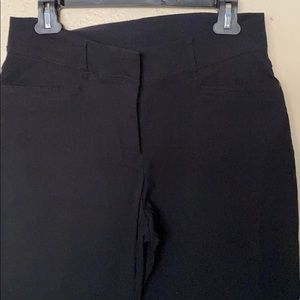 JM collection black cropped pants